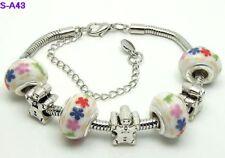 1pc beautiful charm bracelet fit porcelain beads S-A43