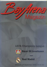 EC I CHAMPIONS LEAGUE 2000/01 Bayer 04 Leverkusen - Real Madrid (27.09.2000)