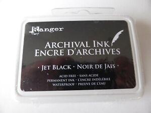 *NEW* (Ranger) ARCHIVAL INK (regular full size pad) JET BLACK (Permanent)