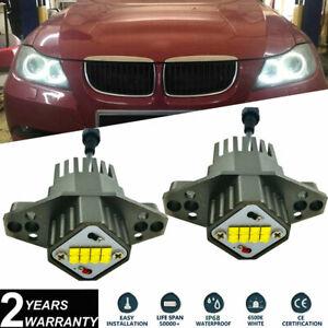 2x 80W For BMW E90 E91 LCI 2008-2011 LED Angel Eyes Halo Ring Bulbs Kit Cree XTE
