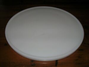 "11"" Vtg Antique White Porcelain Plate pan with Lip originally used with a Scale"
