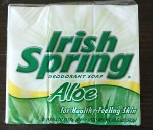 Irish Spring Aloe Three Pack - Three 4.5oz Bars - Vintage Bars