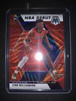 ZION WILLIAMSON Mosaic TMall NBA DEBUT RED WAVE PRIZM SP RC Panini #269