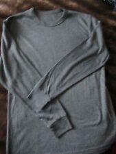 Mens Long Sleeved Thermal Vest (Grey) Size Large