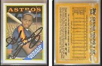 Gerald Young Signed 1988 Topps #368 Card Houston Astros Auto Autograph