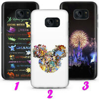DISNEY 2 CARTOON MICKEY MOUSE CASTLE Thin SAMSUNG LG HUAWEI phone Case Cover