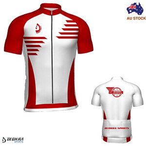 Mens Cycling Jersey Summer Riding Bicycle Short Sleeves Shirt Team Racing Biking