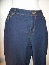 """Womens Faded Glory Dark Blue Denim Pants Jeans (30"""" Inch inseam 18W 18 20W 20 W"""