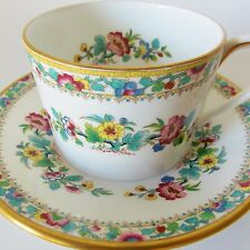 COALPORT MING ROSE CUP AND SAUCER MULTICOLORED MING ROSE CHINESE DESIGN PRETTY