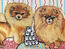 Pomeranian Collectible 4 x 6 Dog Pop Art Print Signed Artist KSams Pom TP Hoard