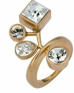 NIB $249 Atelier Swarovski by Peter Pilotto Arbol Ring Gold Size 55/7/M 58/8/L
