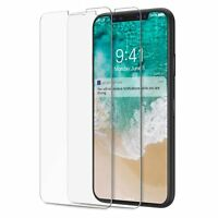 2x  folie iPhone X 10 Schutzglas Schutzfolie Glasfolie Folie