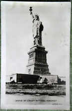 Vintage 1948 Genuine Photograph State of Liberty Postcard Aaron Hill