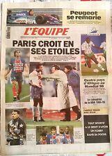 L'Equipe Journal du 26/10/1994; Peugeot se remarie/ PSG/ Mondial 98/ NBA/ Tiozzo