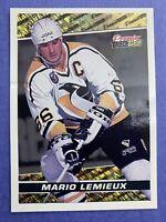 1993-94 Topps Premier Black Gold #9 Mario Lemieux Pittsburgh Penguins - Has Dent