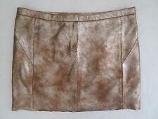 MAJE Metallic Suede Leather Mathilde mini Skirt sz FR 38 US 4 6