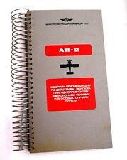 Safety card pilot emergency instruction plane aircraft AN-2 AEROFLOT Russia USSR