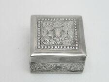 Jugendstil Deckeldose Pillendose Silber 900