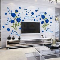 Romantic Rose Flower DIY Removable Decal Wall Sticker Vinyl Art Mural Home Decor