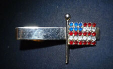 "Vintage United States Flag Old Glory Rhinestone Tie Clip. Lovely. 2"" Long."
