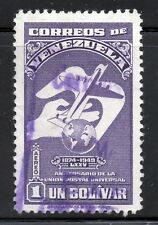 Venezuela 1950 AIRM 75th aniversario de U.P.U alto valor 1b. Violeta SG 838 VFU