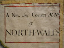 Map, Robert Morden, North Wales, 1722, Antique Original, from Camden's Britannia