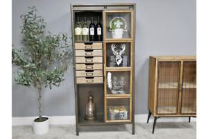Industrial Display Cabinet with Glass door Metal Vintage Cabinet 6457
