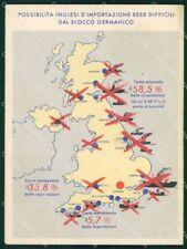 WW2 WWII Propaganda Fascismo Anti British SCOLLATA FG cartolina XF7128