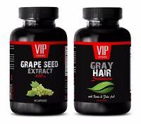 Wellness vitamins capsules - COMBO GRAPE SEED EXTRACT – GRAY HAIR 2B - zinc iron