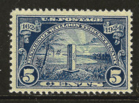 US #616 [5c Huguenot-Walloon] MNH 1924 Key-to-Set