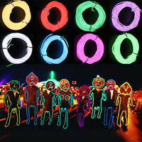 Flexible Neon LED Light Glow EL Wire String Strip Rope Tube Car Christmas Party!