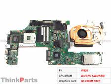 """Lenovo ThinkPad W520 T520 15.6"""" Motherboard Nvidia N12P-Q3 2000M W/Fan 04W2029"""