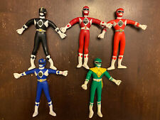 Lot of 5 1994 Mighty Morphin Power Rangers Bendable Gordy Toys