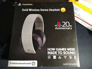 PS4 20th Anniversary Gold Wireless Stereo Headset (Sony Playstation 4) New