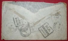 Mayfairstamps India 1918 DLO Madrass Backstamps Cover wwf55665