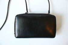 Dolce Vita Genuine Black Leather Crossbody Satchel Wallet Organizer