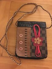 Shoulder Bag Retro 1980's Teenager. Flower design with pocket