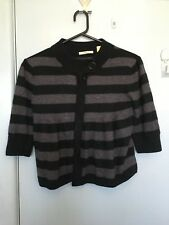 Country Road grey and black stripped cardigan in size L
