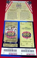 2001 Cleveland Indians 100th Anniversary Opening Day Commemorative Tickets MINT!