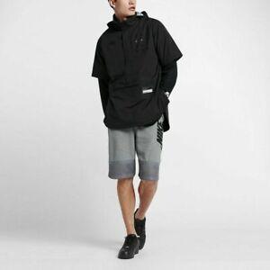 SZ XL 🆕🔥 UNIQUE Men's Nike Air Short Sleeve Jacket Black 802629-010 💰$200