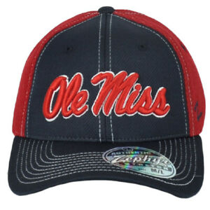 NCAA Zephyr Mississippi Rebels Ole Miss Flex Fit Stretch Small Mesh Hat Cap