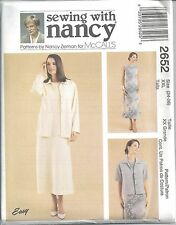 McCalls Sewing Pattern # 2652 Misses Dress and Unlined Jacket Size 24-26