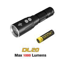 Nitecore DL20 Cree LED Underwater Sport Diving Light Flashlight Torch + Battery