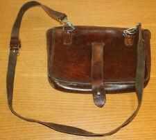 vintage SACOCHE cartouchiere WW2 HOUSSE en CUIR old LEATHER BAG Ledertasche BAG