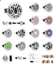 Zinc alloy Removable Car Mini Clip Air Freshener Aroma Diffuser Locket 10 Pads