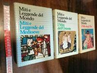 LIBRO STOCK LOTTO 3 LIBRI Miti e leggende del Mondo - MEDIOEVO E MITI.......