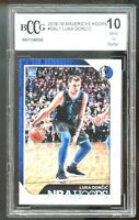 2018-19 Hoops SGA #DAL1 Luka Doncic Rookie Card Graded BCCG BGS 10 Mint+