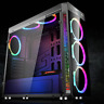 Gaming Computer ATX PC Case Full Tower USB 3.0 with 4 RGB 120mm Cooling Fans