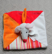 DOUDOU PLAT SOURIS BLANC ROUGE ORANGE HAPPY HORSE  NEUF