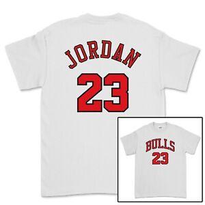 MICHAEL JORDAN CHICAGO BULLS 23 T-SHIRT MENS WOMENS UNISEX WHITE NBA JERSEY